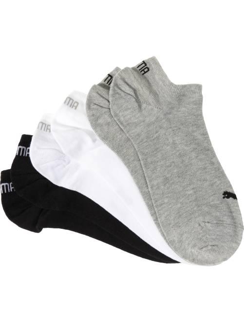 Set 3 paia calzini alla caviglia 'Puma'                                                                             grigio/bianco/nero