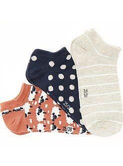 Intimo dalla S alla XXL Set 3 paia calzini alla caviglia