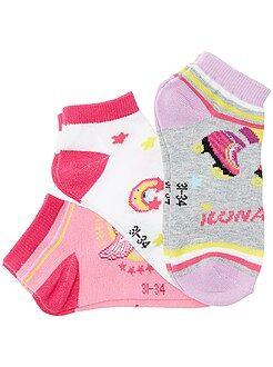Bambina 3-12 anni Set 3 paia calzini alla caviglia 'Soy Luna'