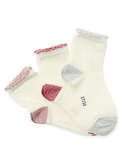 Calze, calzini - Set 3 paia calzini bordi brillanti