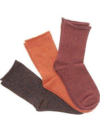 Set 3 paia calzini con fibra metallo - Kiabi