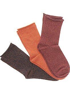 Intimo dalla S alla XXL Set 3 paia calzini con fibra metallo