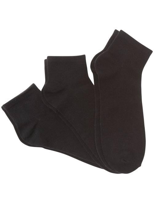 Set 3 paia calzini corti                             NERO Uomo