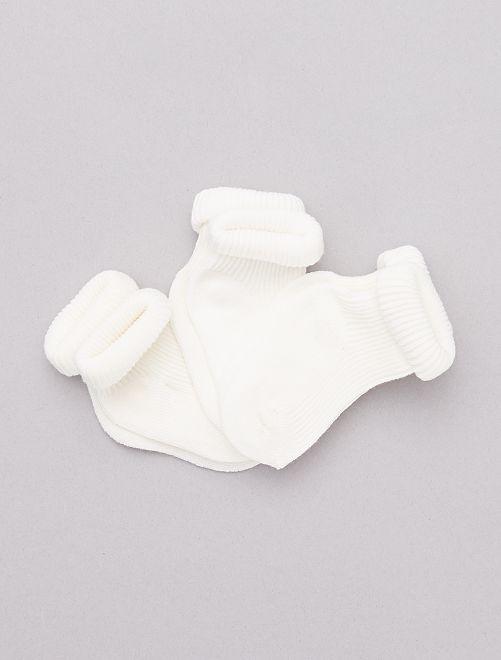 Set 3 paia calzini cotone bio                                                                 BIANCO Neonato