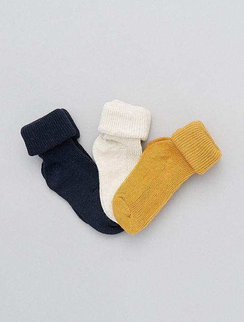 Set 3 paia calzini cotone bio                                                                 GIALLO