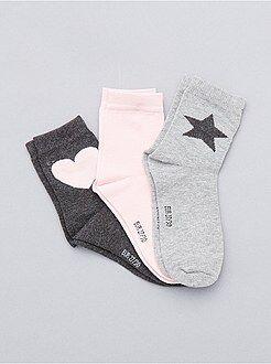 Calze, calzini - Set 3 paia calzini cuore e stella