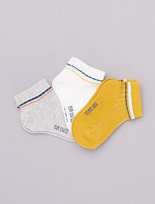 Set 3 paia calzini 'eco-design'                             giallo