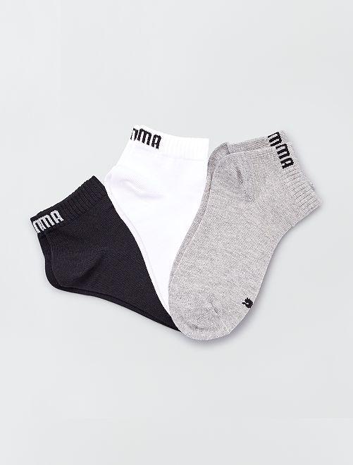Set 3 paia calzini gambale corto 'Puma'                                                                             BEIGE