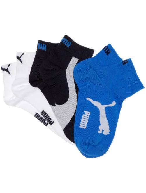Set 3 paia calzini gambale corto 'Puma'                                                                                         blu marino/bianco/blu Ragazzo