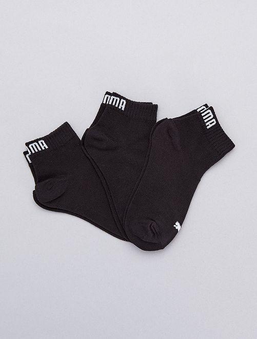 Set 3 paia calzini gambale corto 'Puma'                                                                             NERO