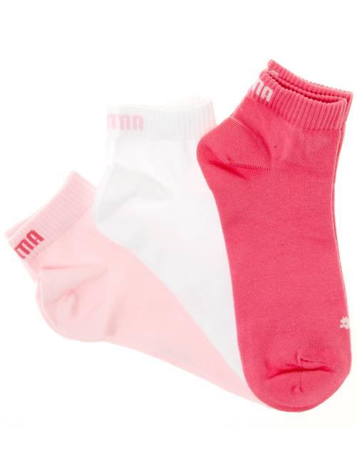 Set 3 paia calzini gambale corto 'Puma'                                                                                                     rosa/bianco