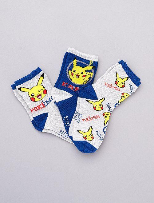 Set 3 paia calzini 'Pokemon'                             GIALLO