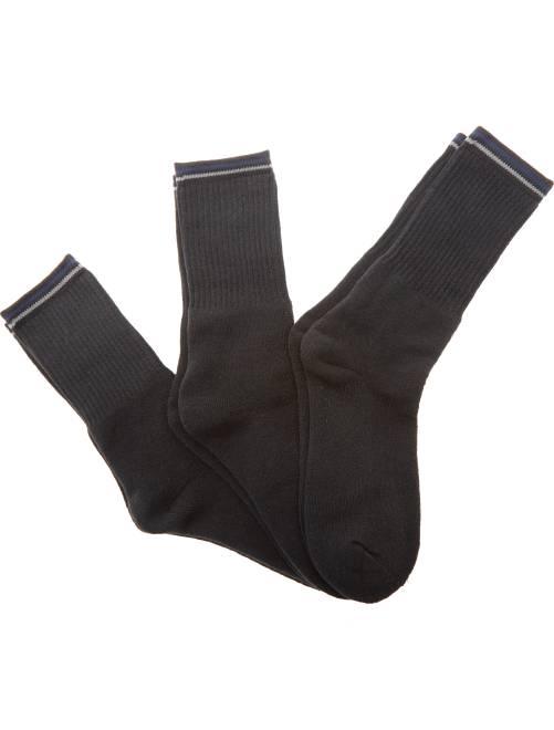 Set 3 paia calzini sport                                 nero Uomo