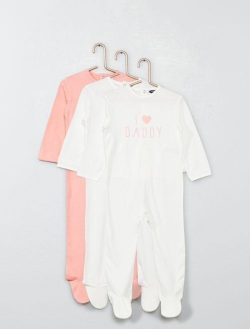 Set 3 pigiami                                                     BIANCO Neonata
