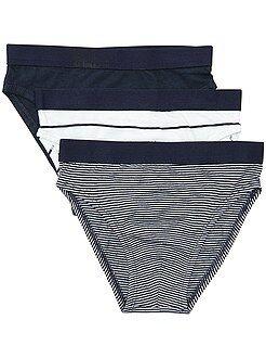 Biancheria intima - Set 3 slip puro cotone - Kiabi