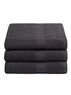 Asciugamani - Set 3 teli doccia puro cotone - Kiabi