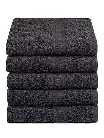 Set 5 asciugamani puro cotone - Kiabi