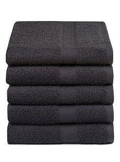 Asciugamani - Set 5 asciugamani puro cotone - Kiabi
