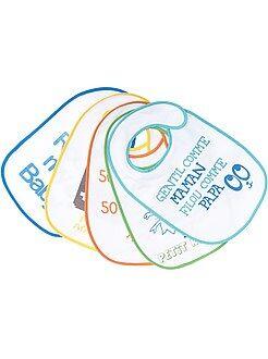 Bambino 0-36 mesi - Set 5 bavaglini spugna fodera plastificata - Kiabi