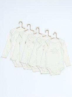 Set 5 body maniche lunghe puro cotone