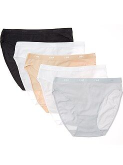 Intimo in lotto - Set 5 mutandine cotone stretch Les Pockets 'DIM'