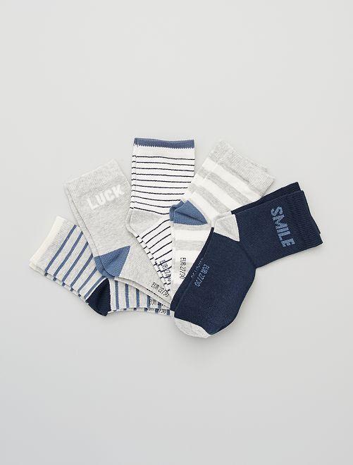Set 5 paia calzini                                         a righe blu