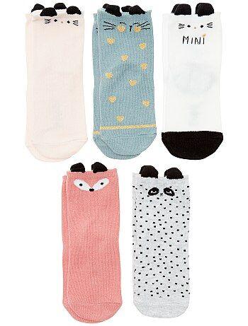 Set 5 paia calzini 'animali' - Kiabi