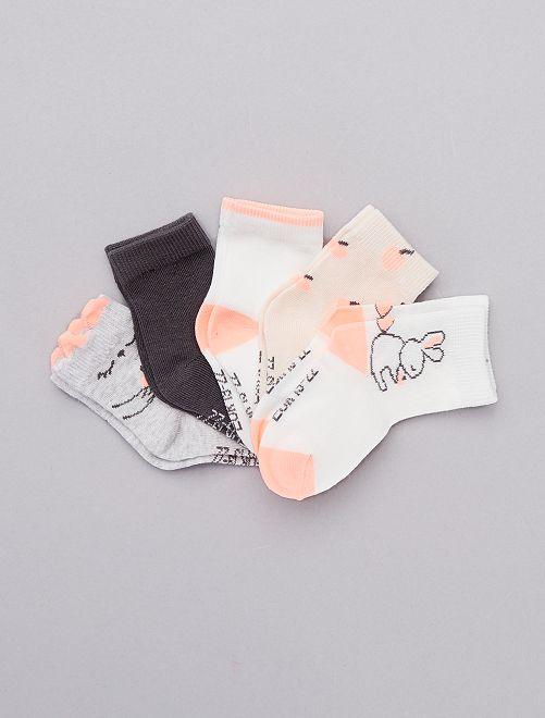 Set 5 paia calzini cotone bio                                                                 GRIGIO