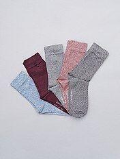 Set 5 paia calzini cotone mouliné
