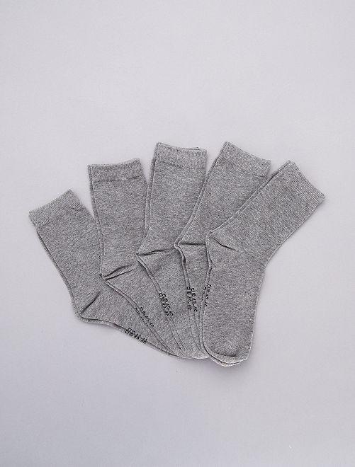 Set 5 paia calzini                                                                 GRIGIO