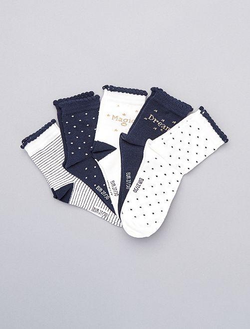 Set 5 paia calzini lunghi                             BIANCO