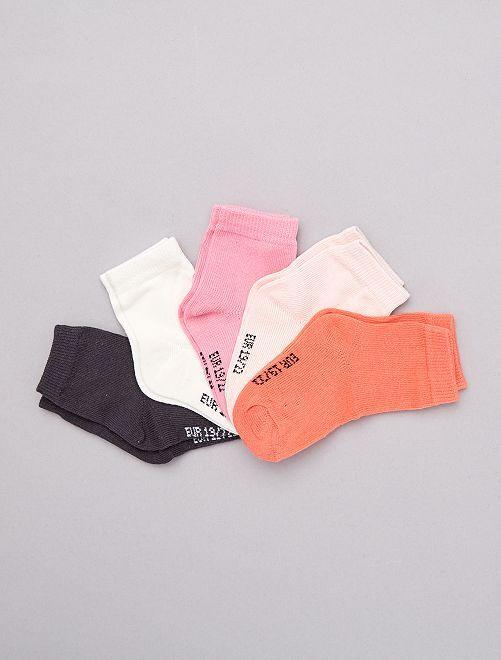 Set 5 paia calzini                                         rosa Neonata