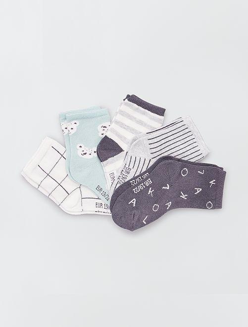 Set 5 paia di calzini eco-sostenibili                                         GRIGIO