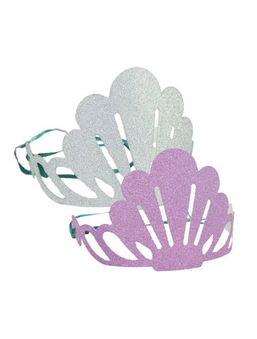 Set 6 diademi luccicanti 'sirena'                              grigio rosa Casa