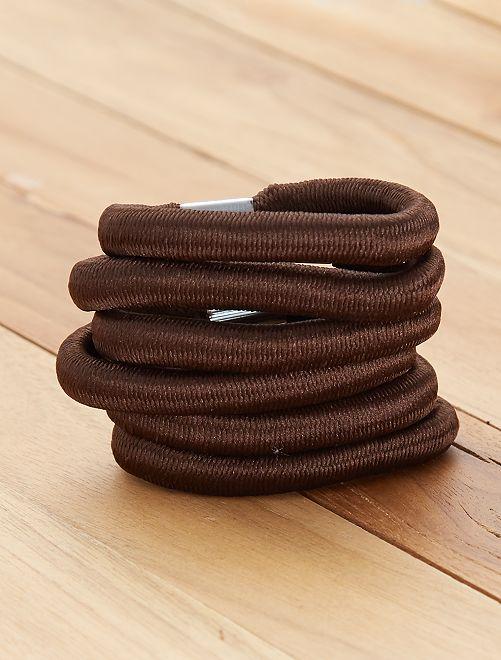 Set 6 elastici larghi                             marrone