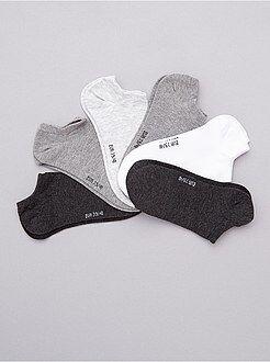 Intimo dalla S alla XXL - Set 6 paia calzini alla caviglia - Kiabi