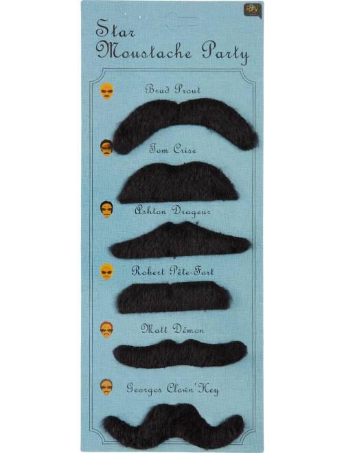 Set 6 paia di baffi                             nero