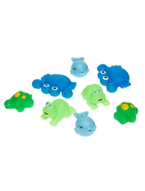Set 8 giocattoli da bagno                                         blu