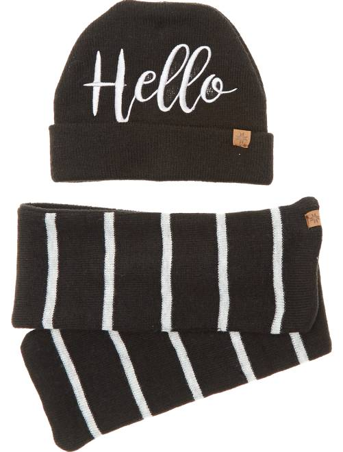 Set berretto e sciarpa                                                     nero Neonato