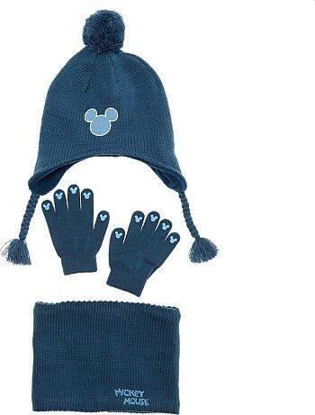 Bambino 3-12 anni - Set berretto + sciarpa snood + guanti  Topolino  7fc5a62d6509