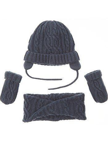 Bambino 0-36 mesi - Set berretto + sciarpa snood + muffole - Kiabi 4fd178e1725f
