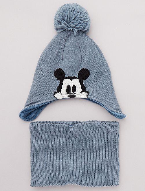 Set berretto + sciarpa snood 'Topolino'                             blu grigio