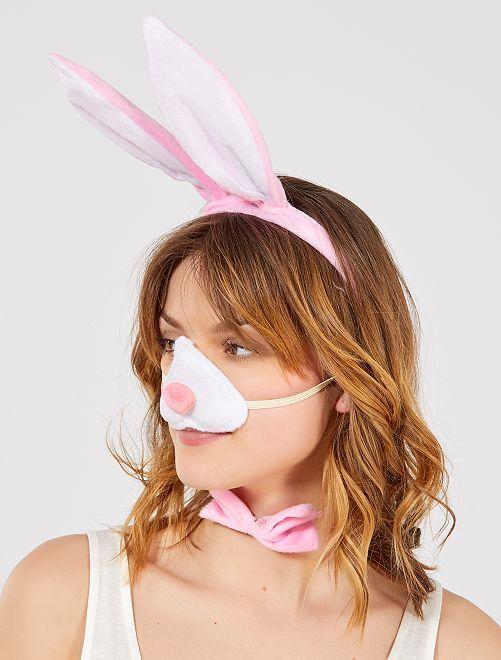 Set coniglio                             rosa/bianco