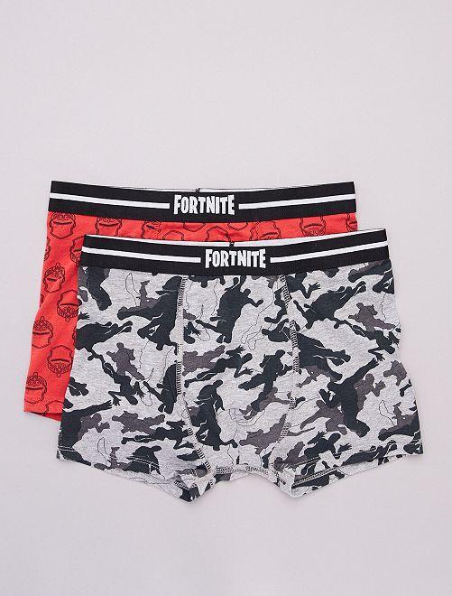 Set di 2 boxer 'Fortnite'                             GRIGIO