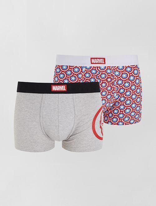 Set di 2 boxer 'Marvel'                             GRIGIO