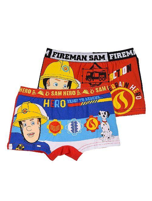Set di 2 boxer 'Sam il pompiere'                                         blu/nero