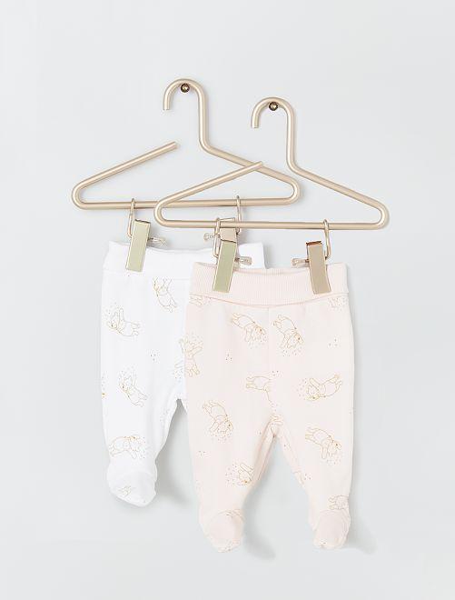 Set di 2 leggings 'Winnie the Poo' ecosostenibili                             BIANCO