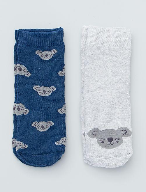 Set di 2 paia di calzini antiscivolo                                                                                                                 blu marine