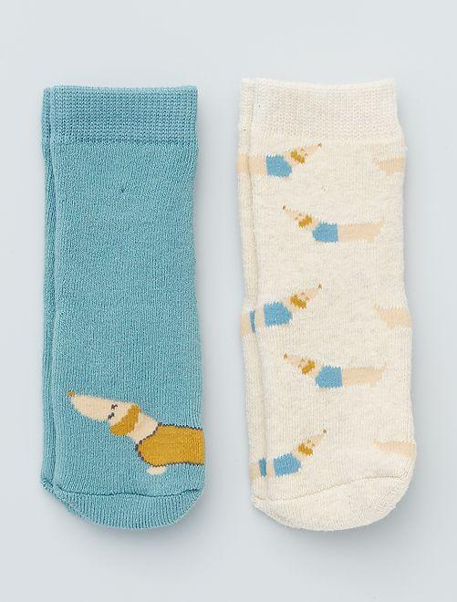 Set di 2 paia di calzini antiscivolo                                                                                                                 cane