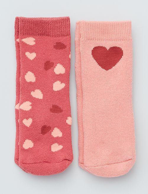 Set di 2 paia di calzini antiscivolo                                                                                                                 cuori